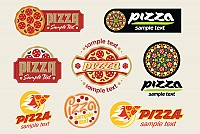 Vector Pizza Logotypes
