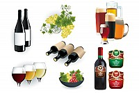 Wine & Beer Vector Graphics