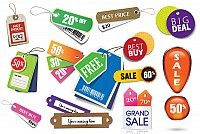 Vector Sales Badges