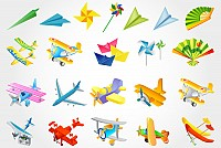 Toy Airplanes Vector