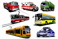 Public Transport Vector Vehicles