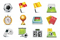 Football Match 3D Vector Icons