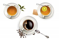 Coffee & Tea Vector Graphic