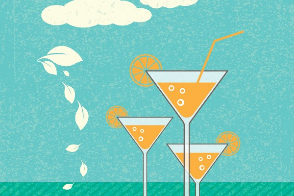 Refreshing Summer Cocktail Vector