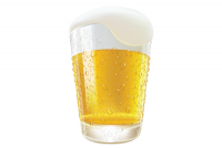 Realistic Beer Glass Vector