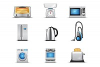 Household Appliances Vector Elements