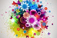 Abstract Flower Background Illustration Vector