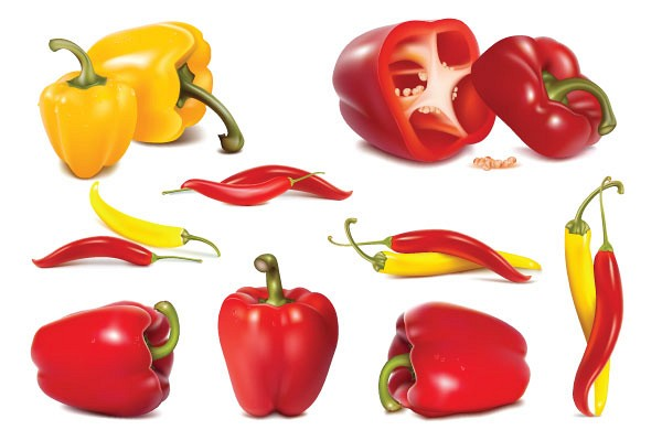Realistic Vector Peppers