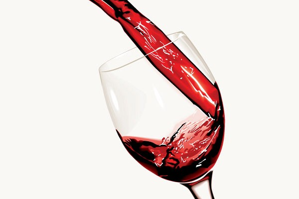 Pouring Red Wine Glass Vector