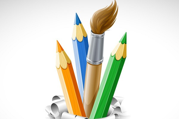 Art Supplies Vector Graphic