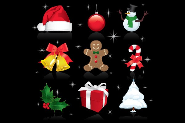 Vector Christmas Ornaments 2