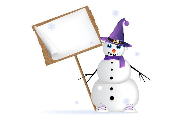 Decorated Snowman Vector