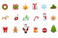 Cartoon Christmas Vector Icons