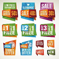 Cool Stereoscopic Discount Vector Labels