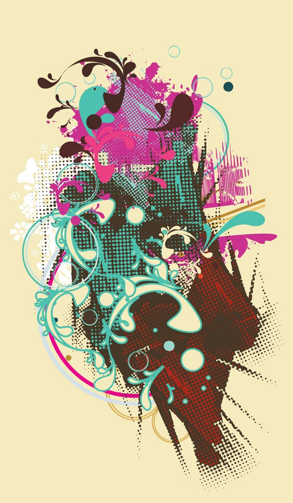 Trendy Abstract Vector Poster