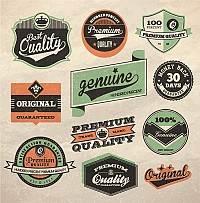 Genuine Retro Vector Label Designs