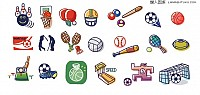 Simple Sport Symblos Vector Icons