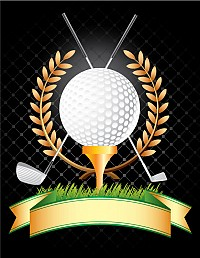 Golden Golf Trophy Vector