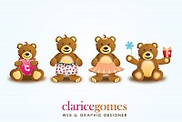 Cute Love Vector Bears