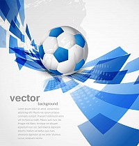 Relistic Blue Soccer Ball Vector