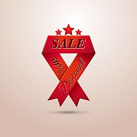 Creative Sales Ribbon Vector