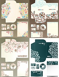 Patterned Vector Packaging Template