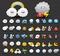 Nice Vector Weather Icons