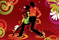 Salsa Dancing Couple Vector