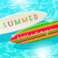 Surfing Boards Vector Graphic