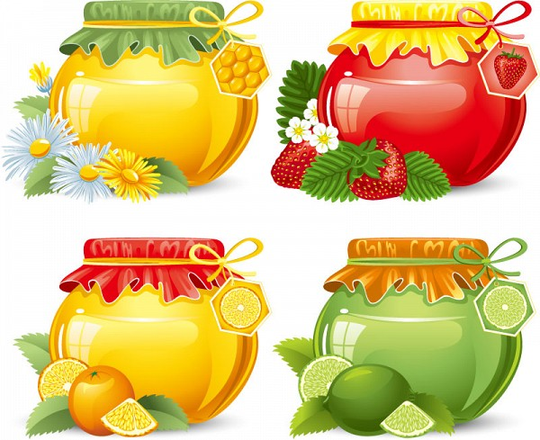 Jam & Honey Jars Vector