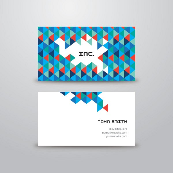 Triangle Business Card Vector Template