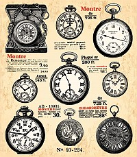 Antique Pocket Watch Vector