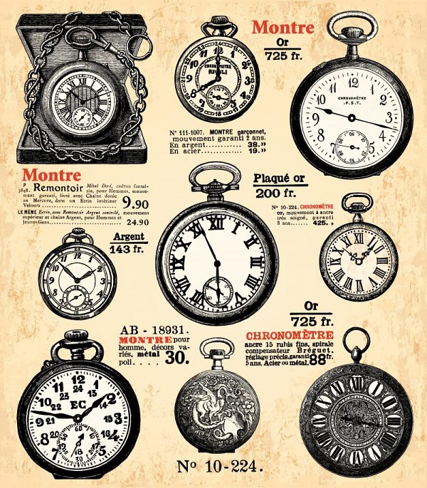 Pocket watches drawings