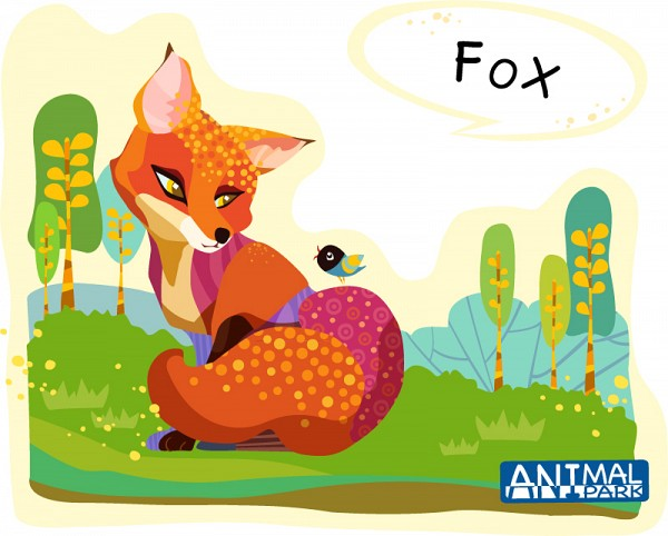 Colorful Fox Vector Illustration