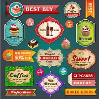 Fine Dining Restaurant Vector Labels