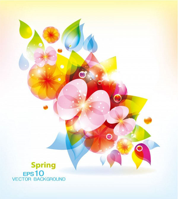 Fantasy Flowers Vector Background