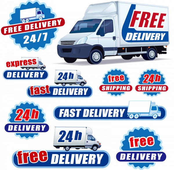 Free Delivery Vector Labels