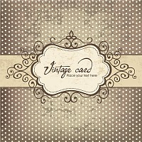 Vintage Vector Card Template