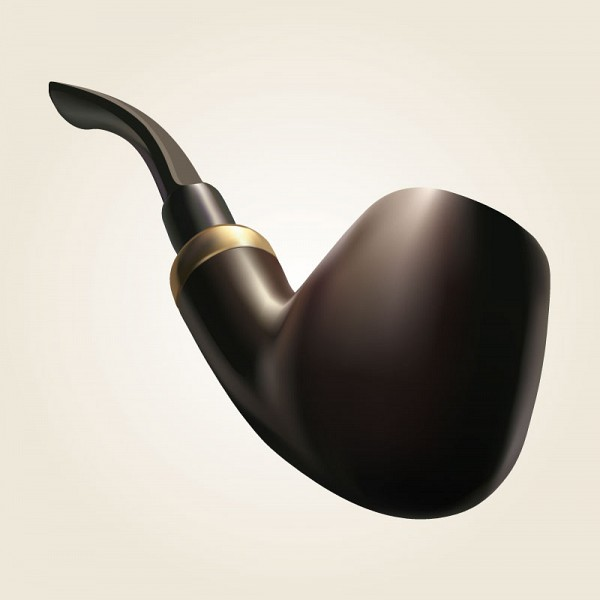 Smoking Tobacco Pipe Vector