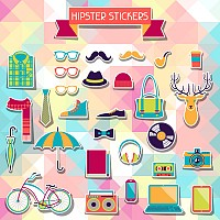 Hipster Vector Stickers & Icons