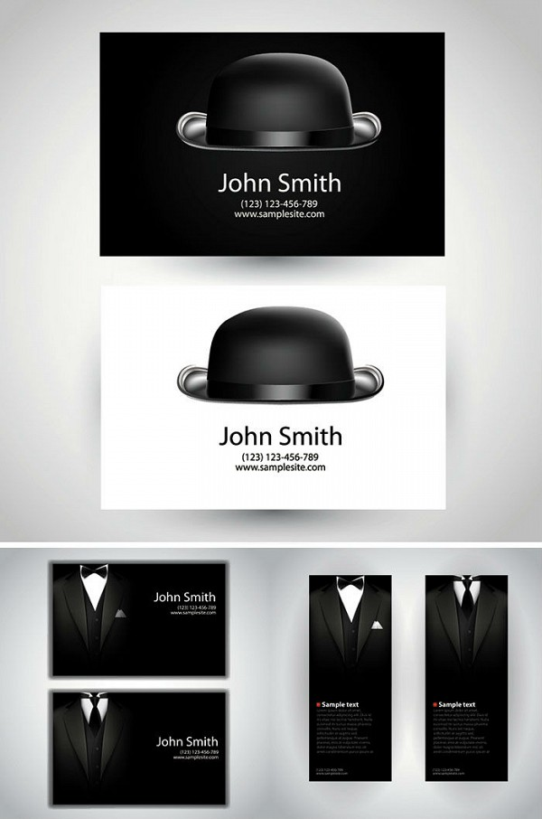 Gentleman Business Card Template