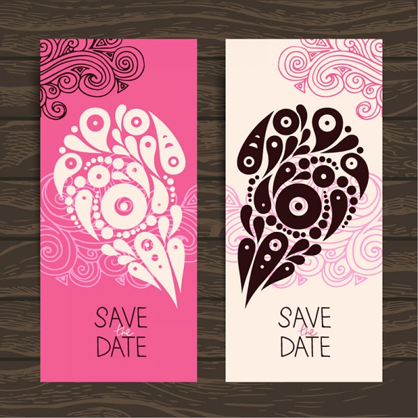 Romantic Invitation Card Vector
