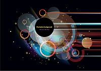 Circular Background Vector Design
