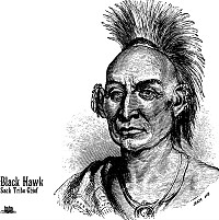 Black Hawk Native American Vector