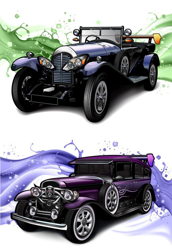 Classic Vintage Car Vector