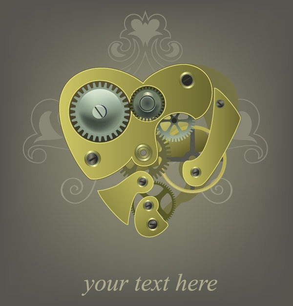 Mechanical Heart Vector Illustration