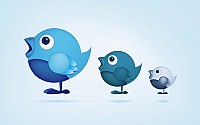 Cute Twitter Birds Vector