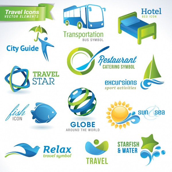 Travel Logotypes Vector Set