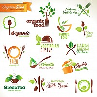 Organic Food Vector Logotypes
