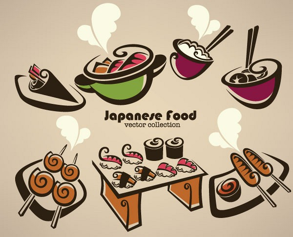 Japanese Food Vector Collection